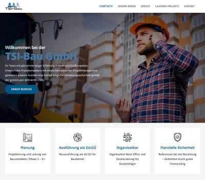 Homepage Referenz TSI Bau