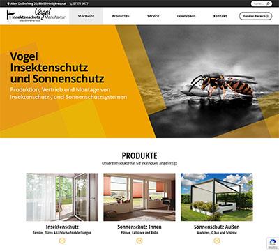 Webdesign Referenz Vogel Insektenschutz in Riedlingen