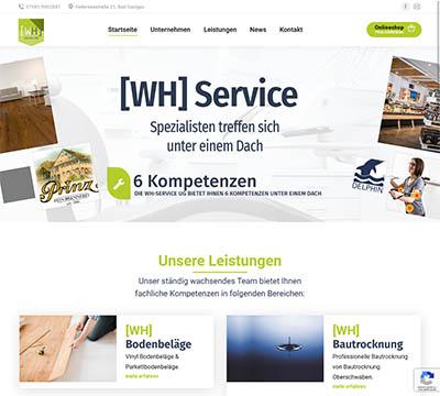 Webdesign Referenz WH-Service in Bad Saulgau